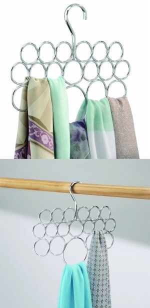 #44. Loop Scarf Holder -- 55 Genius Storage Inventions That Will Simplify Your Life