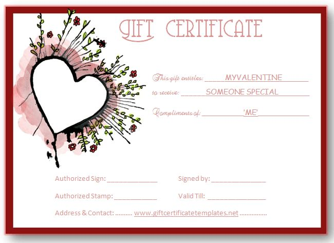 Abstract heart gift certificate template | Beautiful ...