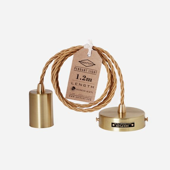 Superbalist (Formerly Citymob) - Hoi P'loy - Pendant Light & Fabric Cable Set – Gold
