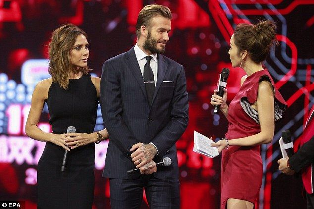 The retail frenzy kicked off at 3am AEST and the countdown was led by a host of celebrities including David and Victoria Beckham (pictured), Katy Perry and Kobe Bryant