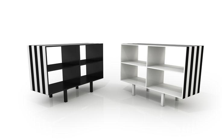 #simbolo sideboard, design Garilab by Piter Perbellini for #altreforme, #dream collection #interior #home #decor #homedecor #furniture #aluminium #blackandwhite