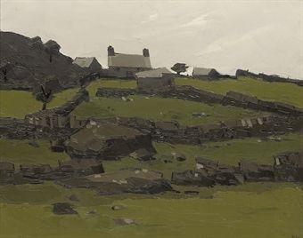 Farm at Deiniolen by Sir kyffin Williams