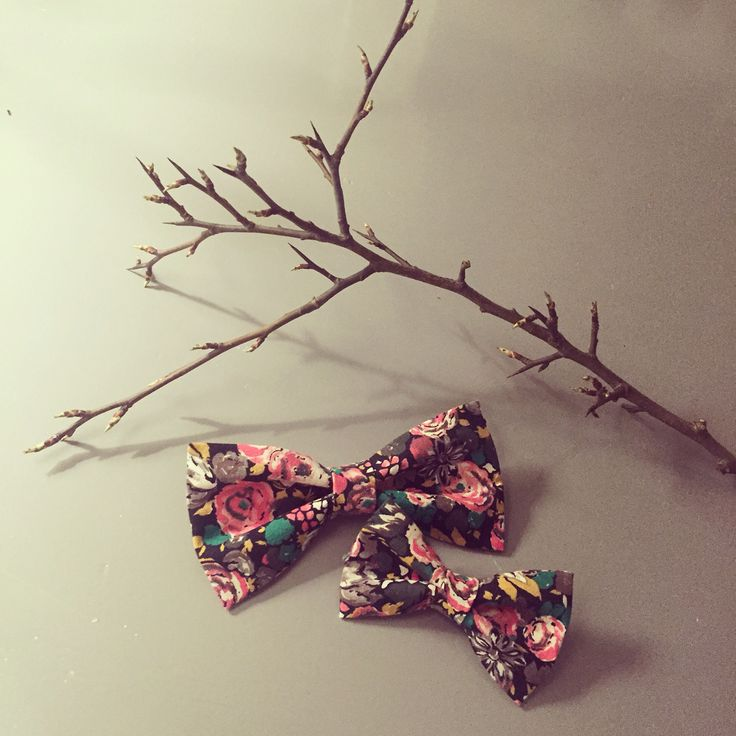 Flower bow tie and a headband. Perfect for Father/daughter. Facebook - barabara