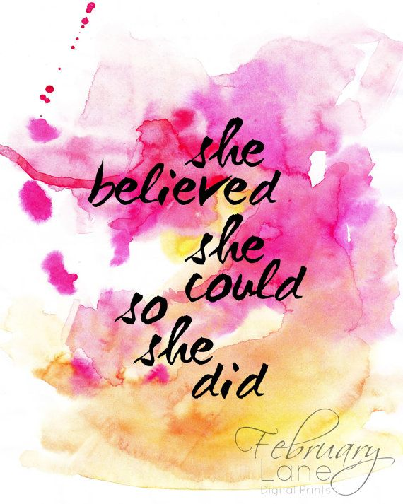 She Believed She Could So She Did Motivational by FebruaryLane