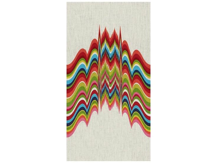 Distorted in Prism by @Jonathan Nafarrete Adler via @Kravet #fabric #linen #multicolor