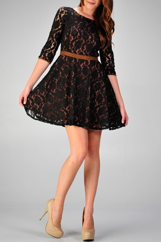 love lace dresses: Dresses Fashion, Style, Clothing, Outfit, Beautiful, Nude Heels, Love Lace, Black Lace Dresses, The Dresses