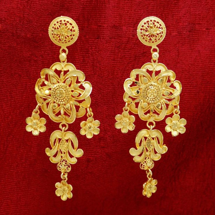 18 best traditional earrings images on pinterest bollywood 18k gold plated chandelier earrings mozeypictures Image collections