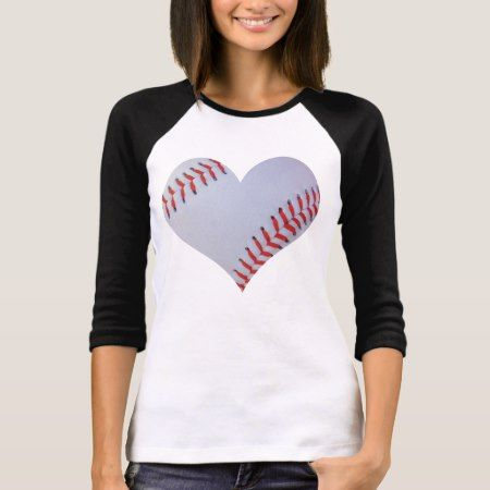 Baseball heart Raglan T-shirt - click to get yours right now!