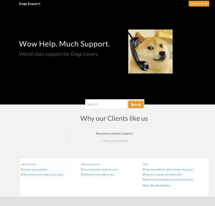 bootstrap+handlebars.js doge mod template for Zendesk's Help Center