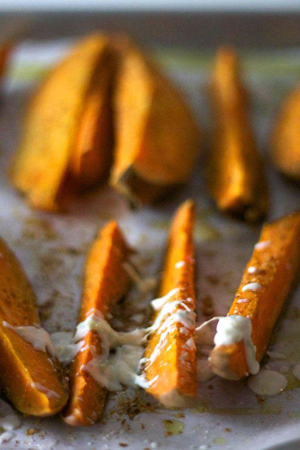 Sweet Potato Wedges with Lemon Lime Crème Fraîche. It only takes 30 ...