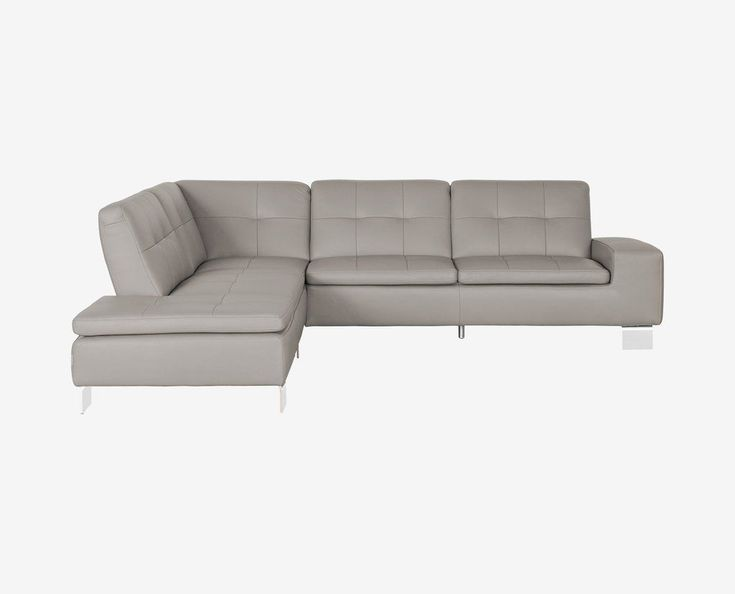 mid cent modern leather sectional