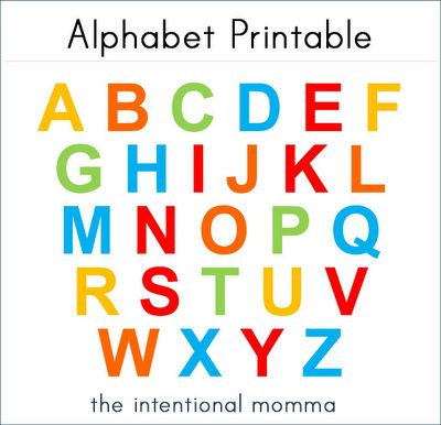 Alphabet Printable, Free! Use for tot tray ABC magnet matching!
