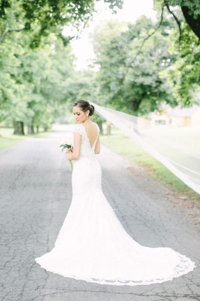 Stunning wedding dress: http://www.stylemepretty.com/new-jersey-weddings/2014/10/08/camp-tecumseh-wedding-with-a-cultural-fusion/ | Photography: Love & Light Photographs - http://www.loveandlightphotographs.com/