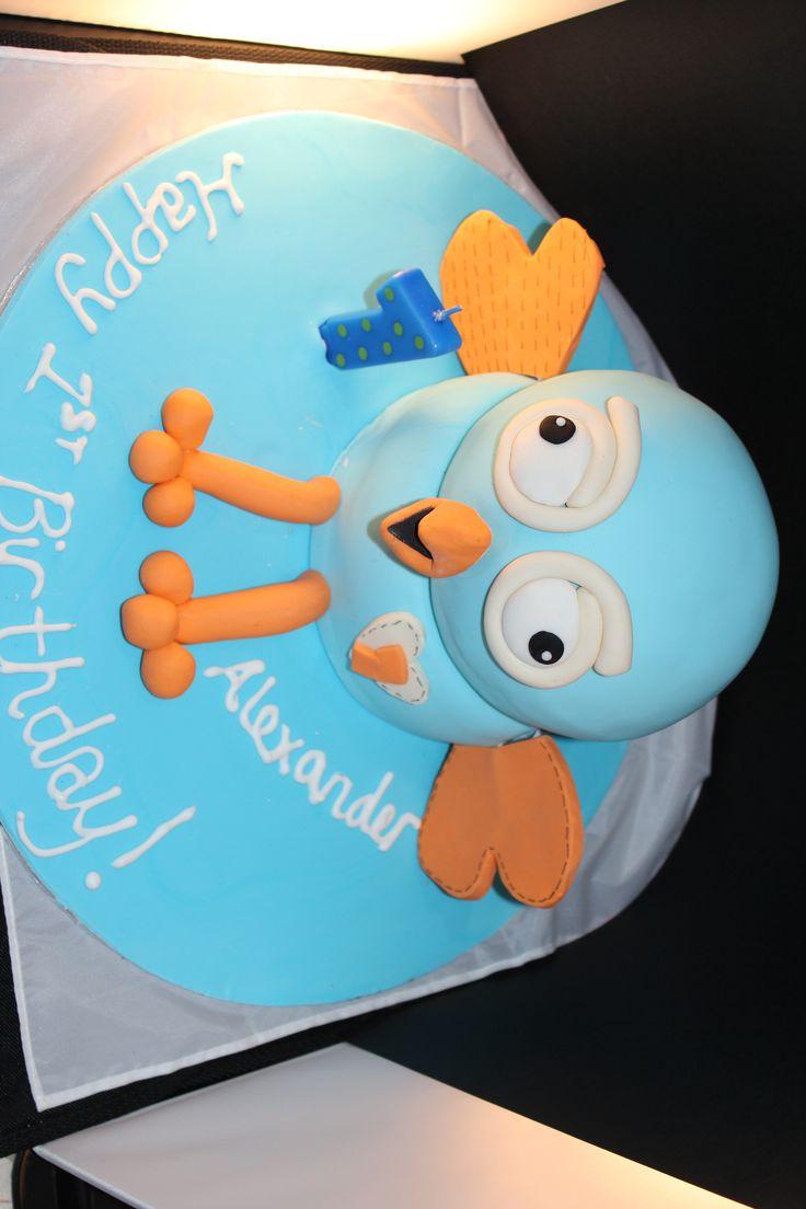 Hoot 3d cake