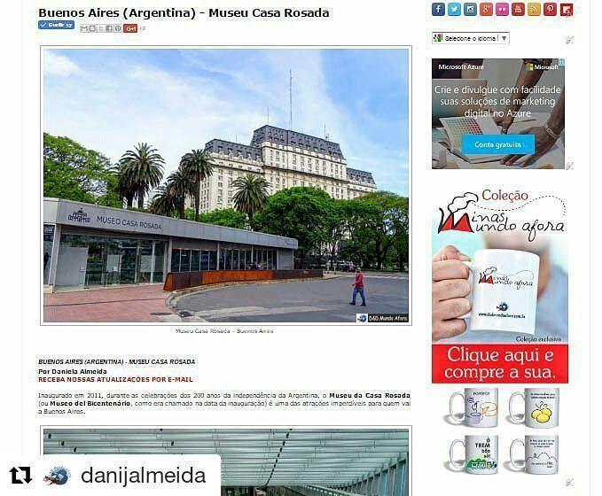 Já viu o post do D&D Mundo Afora sobre a visita ao Museu Casa Rosada de Buenos Aires?  O Lugar é muito bacana conta um pouco da história da Argentina e a entrada é gratuita. Vale a pena conhecer!!! http://ift.tt/2oNLrAC  #mundoafora #dedmundoafora #travel #viagem #tour #tur #trip #travelblogger #travelblog #braziliantravelblog #blogdeviagem #rbbviagem #instatravel #instagood #blogueirorbbv #blogueirosdeviagem #buenosaires #argentina #ap #museucasarosada #levaeu #daytours4u #bsas4u…