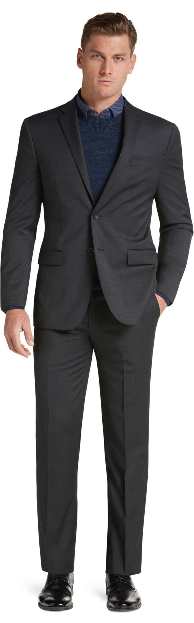 Travel Tech Collection Slim Fit Tic Solid Suit Separate Jacket - Big & Tall