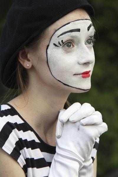 como hacer maquillaje de mimo