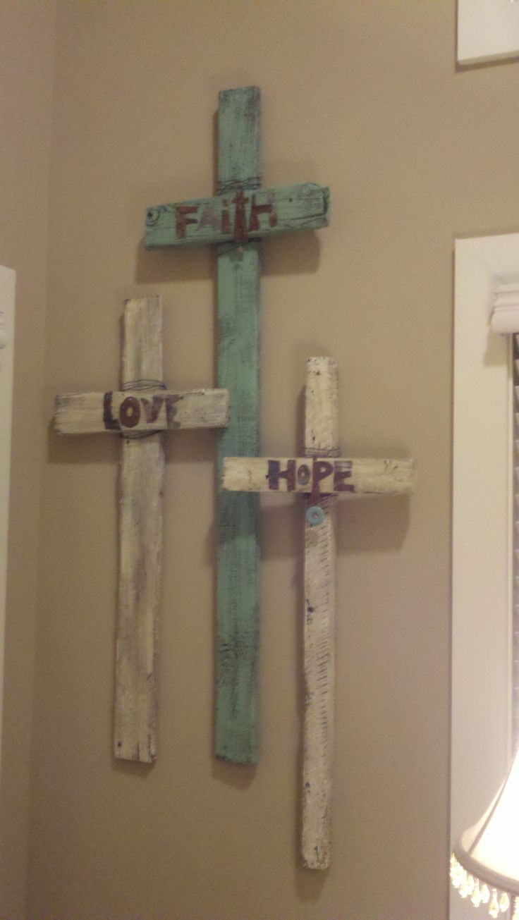 easy to DIY @Melinda W W Duncan Wilson this would look good on your cross wall. Love it!!!