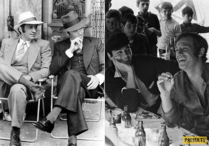Жан-Поль Бельмондо и Ален Делон- знаменитые друзья, история жизни в нескольких фото: marginalisimus