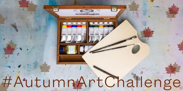 Tweet an oil painting of 'Nature in Autumn' with #AutumnArtChallenge to win a Mussini Artists Oil set worth £180.