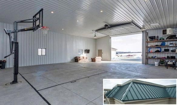 See These Metal Buildings With Carport Attachments Metalbuildings Homeideas Home Gym Flooring Home Basketball Court Metal Buildings