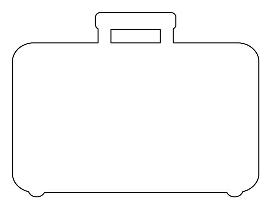 Sly image pertaining to suitcase template printable