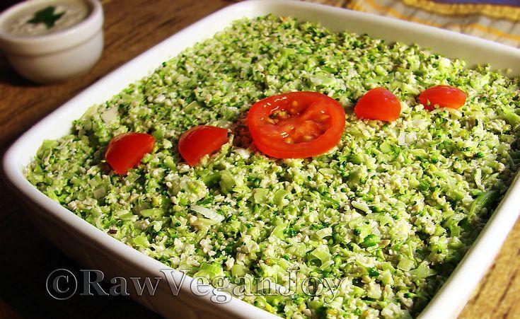 Piure de broccoli cu usturoi verde