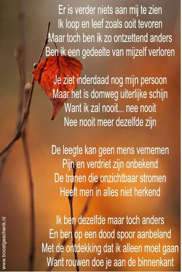 Gedicht rouwen