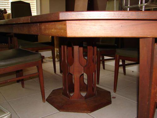 Danish Foster McDavid Mid Century Octagon Table Dining Set   fun ...
