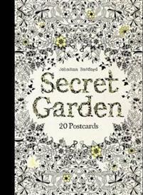 Johanna Basford: Secret Garden (20 väritettävää postikorttia) (10,90€)
