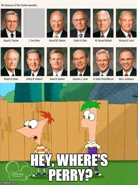 Where's perry? Lds humor