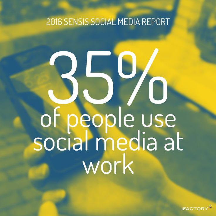 The most common places people use social media are at work. #SensisSocialMediaReport #SensisSocialSocialMediaAustralia #SensisSocial #ifactory #ifactorydigital