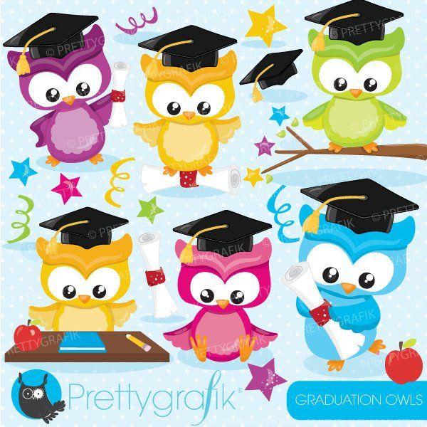 Buy 20 Get 10 Off Graduation Owls Clipart Commercial Use Etsy Buhos De Graduacion Imagenes De Lechuzas Buhos