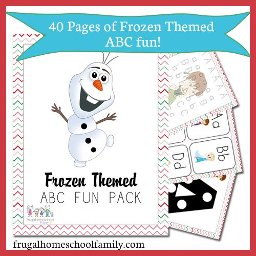 {FREEBIE} Frozen-Themed ABC Pack - Frugal Homeschool Family