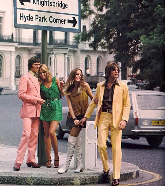 Fashion shoot in 1960s London.