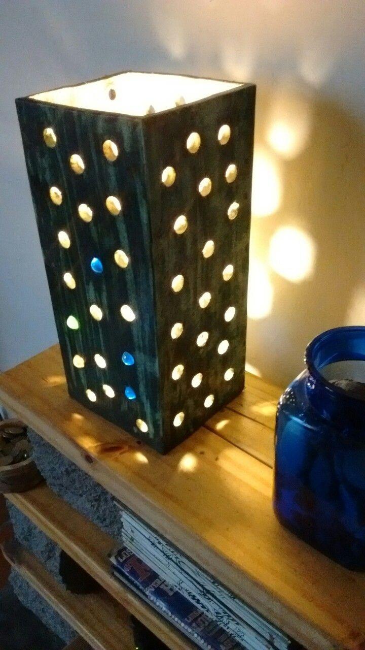 Lámpara de cerámica. öxido y esmalte
