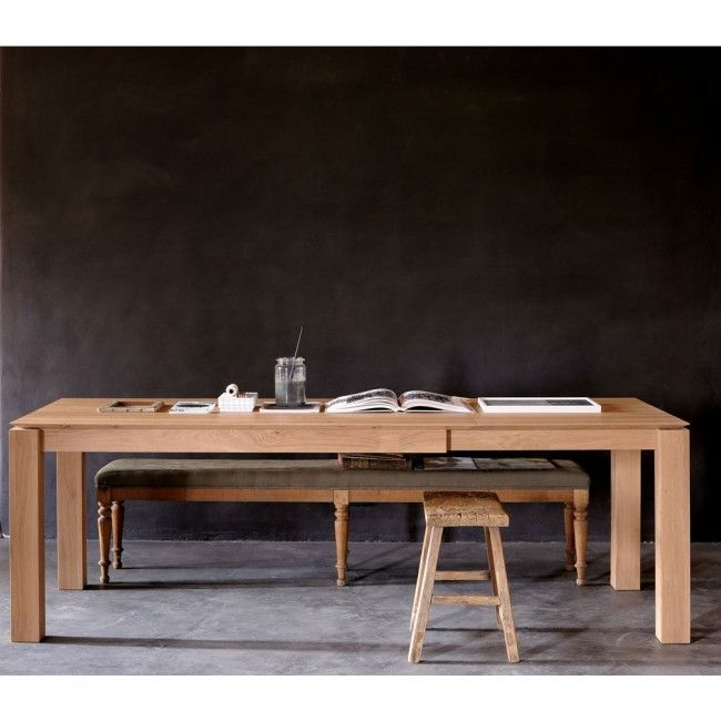 Ethnicraft Oak Slice Extension Dining Table 180cm