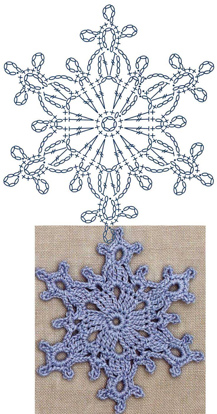 No.7 Large Snowflake Lace Crochet Motifs / 눈송이 모티브도안