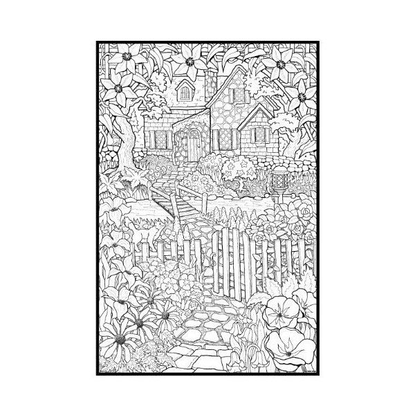 Detailed Coloring Pages For Adults BackYard Animals and