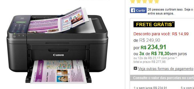 Multifuncional Jato de Tinta Canon PIXMA com Wi-Fi Função Fax Alimentador Automático de Documentos << R$ 23491 em 3 vezes >>