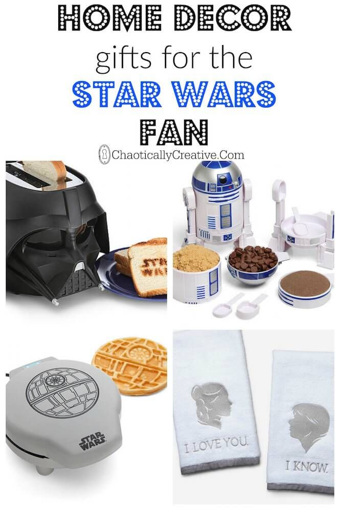 * this would all be on Matts list) Top Home Decor Gifts for Star Wars Fans - Chaotically Creative