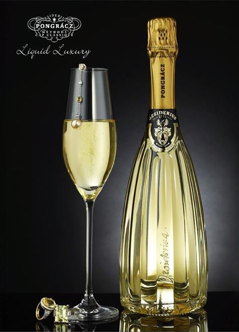 What a beautiful bottle! This is a sparkling wine with an incredible bottle.