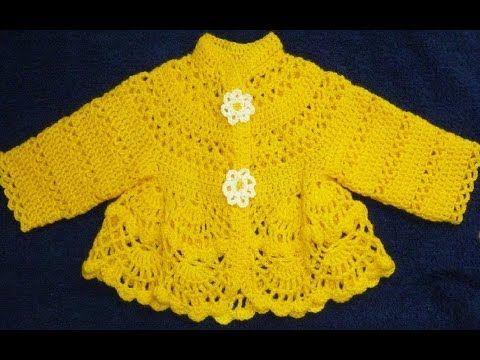 Платье крючком для малышки.Šaty dětské háčkování/Robe -veste au crochet pour bébé.Baby dress crochet - YouTube