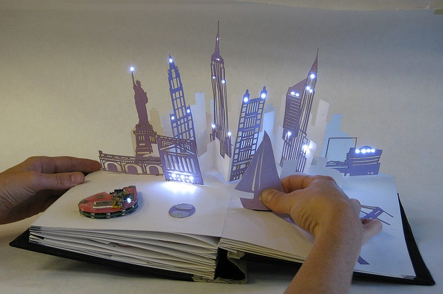 jie qi's interactive pop-up book