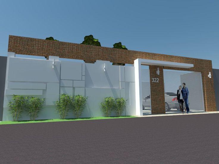 Muro moderno lindas plantas pinterest port es de for Casa moderno kl