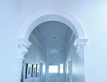 Classic hall archway recreated to match existing in the heritage part of the home.  #heritage #archway