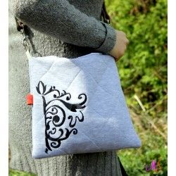 Quilted bag with embroidery