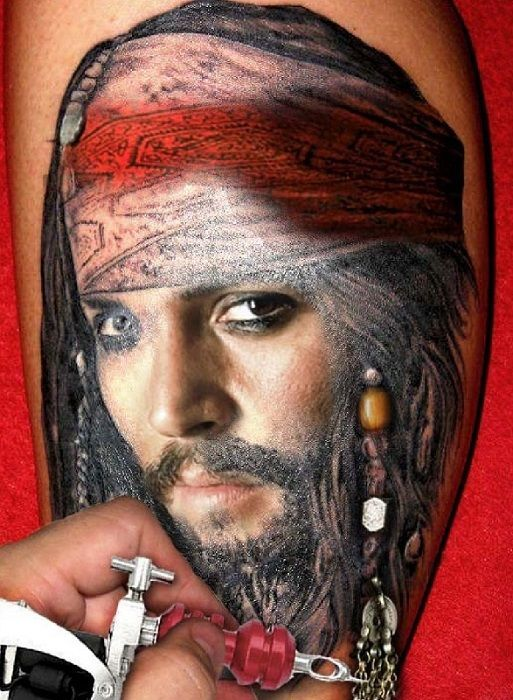 #tattoos pirates of the caribbean #piratesofthecaribbeantattoo jack sparrow #jacksparrow #jacksparrowtattoo
