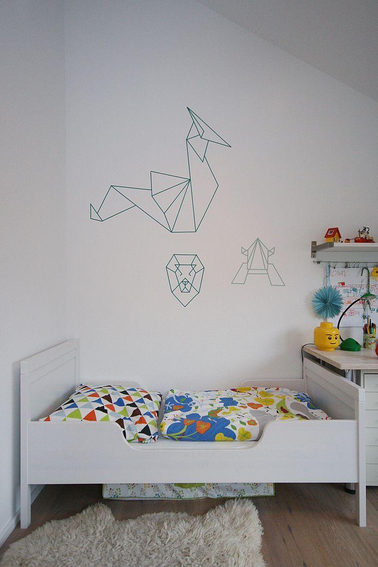 Mit Washi Tape Eine Wand Zu Bekleben Ist Sicher Die Die Einfachste  Möglichkeit Eine Einfache Tapete