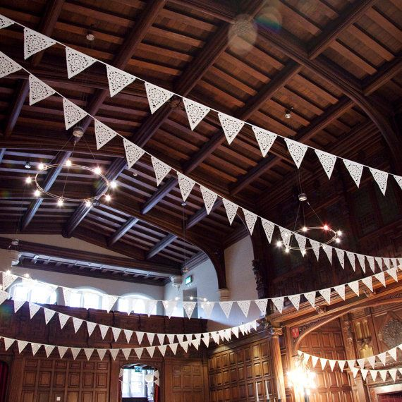 fabric garland ideas | Wedding Garland, Ivory fabric Garland over 8ft - Bridal Shower, Baby ...
